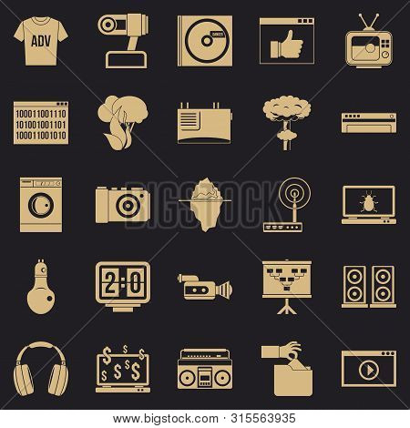 Telly Icons Set. Simple Set Of 25 Telly Icons For Web For Any Design
