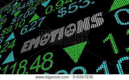 Emotions Feelings Stock Market Irrational Buying Selling Shares 3d Illustration