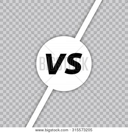 Versus Vs Letters Fight. Versus Text Brush Painting Letters. Vs In Transparent Background. Vector Il