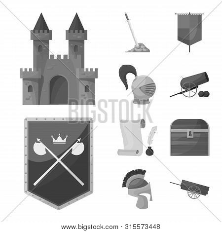 Vector Design Of Heritage And Ancient Symbol. Collection Of Heritage And Culture Vector Icon For Sto