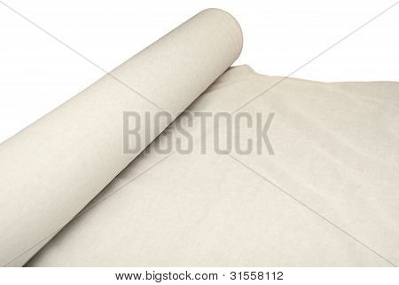 Roll Of A Linen Fabric
