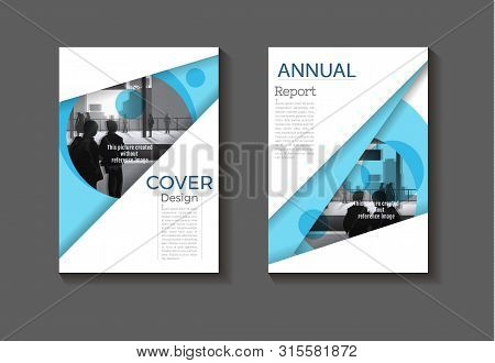 Blue Cover Background Modern Design Modern Book Cover Brochure Cover  Template,annual Report, Magazi