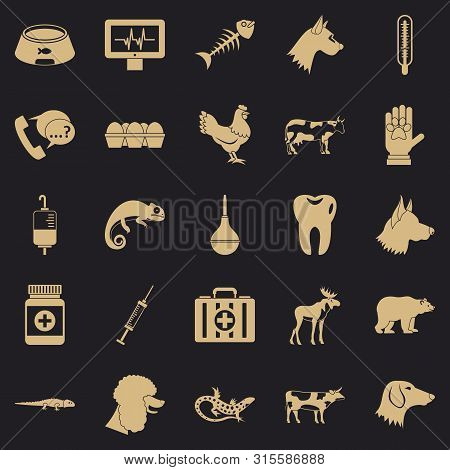 Cow Leech Icons Set. Simple Set Of 25 Cow Leech Icons For Web For Any Design