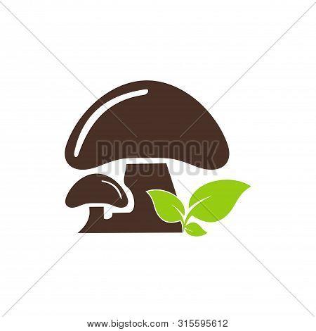 Mushroom Icon Isolated On White Background. Mushroom Icon Simple Sign. Mushroom Icon Trendy And Mode