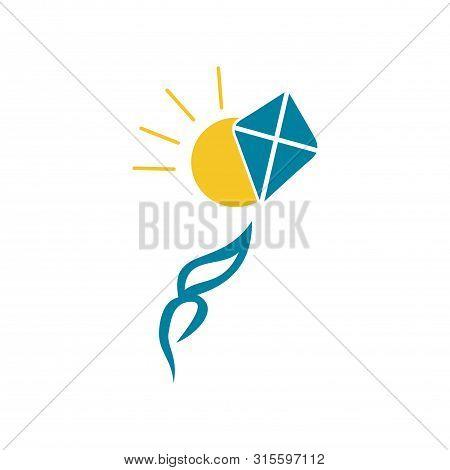 Sun Kite Icon Isolated On White Background. Kite Icon Simple Sign. Kite Icon Trendy And Modern Symbo