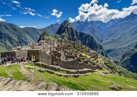 Machu Picchu, Peru - May 2, 2019. Panorama View Of Ancient City - Machu Picchu In Peru