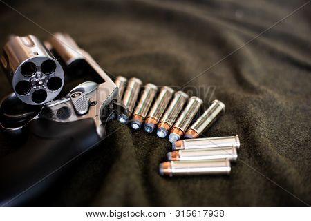 357 Magnum Revolver Classic Gun With Bullet