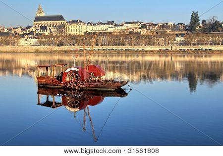 Vintage Red Boat
