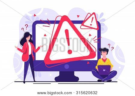 Concept Operating System Error Warning For Web Page, Banner, Presentation, Social Media, Documents,