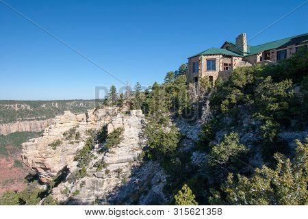 Grand Canyon National Park, Arizona - June 15, 2005: Grand Canyon Lodge Built On North Rim Of Grand