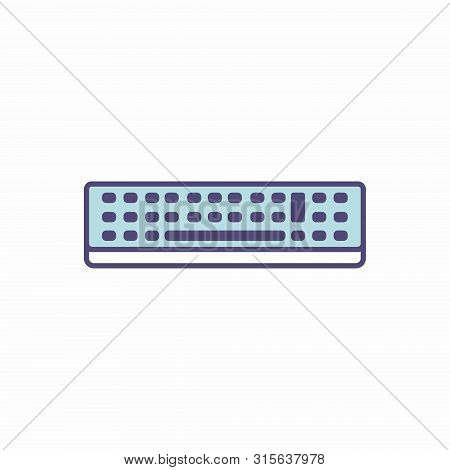 The Isolated Keyboard Icon In Flat Style