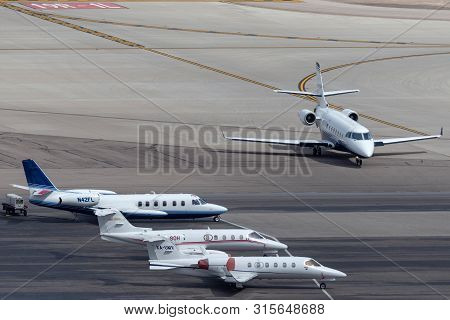 Las Vegas, Nevada, Usa - May 6, 2013: Overview Of The Private Jet Ramp At Mccarran International Air