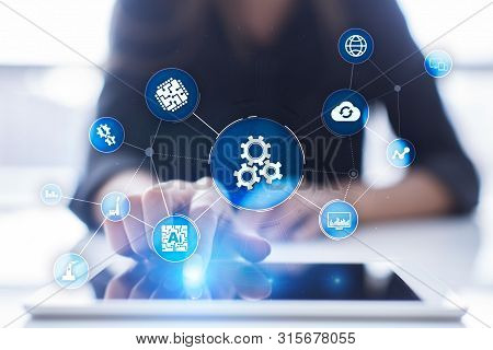 Automation Solution And Software For Business Process, Workflow, Modern Technology And Automatizatio