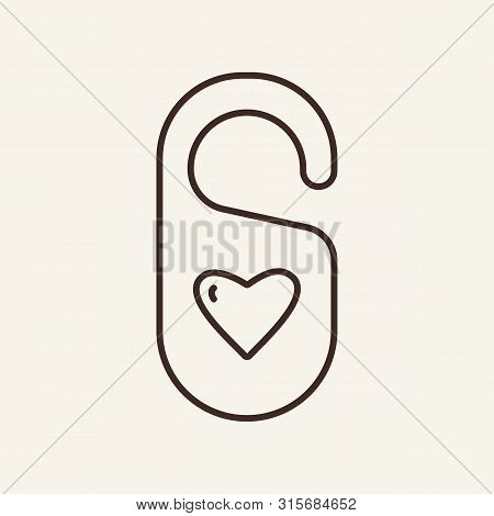 Room For Newly Married Line Icon. Wedding Night, Just Married, Honeymoon. Wedding Concept. Vector Il
