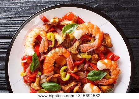 Warm Shrimp Salad Image Photo Free Trial Bigstock