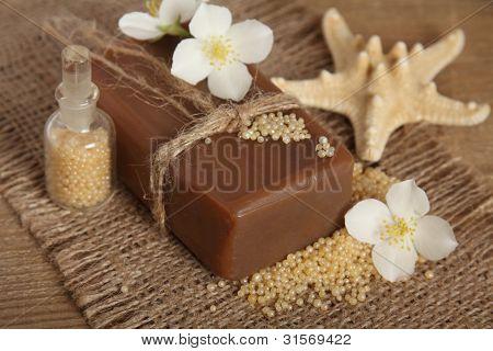 Bar Of Natural Handmade Soap. Spa