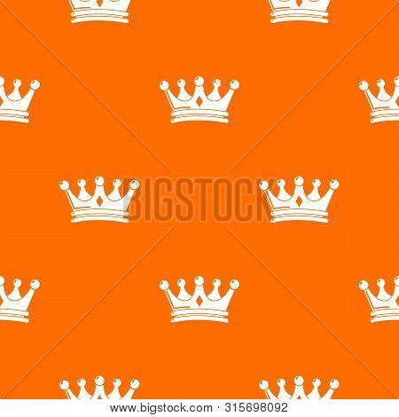 Regal Crown Pattern Vector Orange For Any Web Design Best