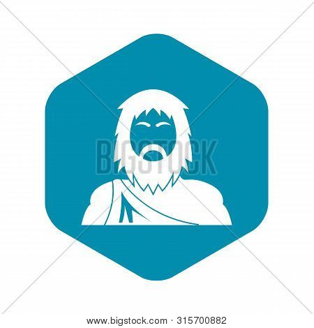 Neanderthal Icon. Simple Illustration Of Neanderthal Vector Icon For Web