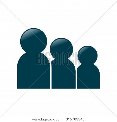 Family Vector Icon On White Background. Family Icon In Modern Design Style. Family Vector Icon Popul