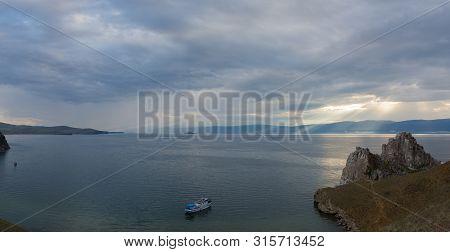 Olkhon Island, Khuzhir Village, June 2019, View Of Lake Baikal On A Cloudy Day