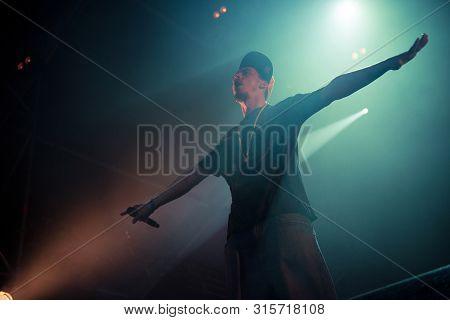 Live Hip Hop Concert On The Stage