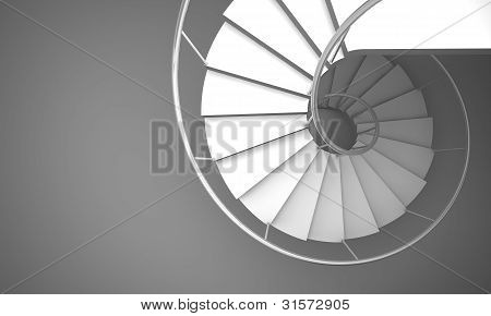 Arch Stair On Gray Floor