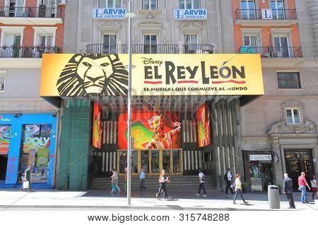 Madrid Spain - May 27, 2019: Unidentified People Visit Lope De Vega Theatre Madrid Spain
