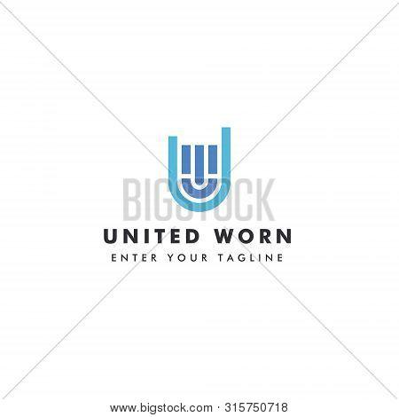 Logo Letter U W Or W U, Concept Letter U + W + Promise Icon.