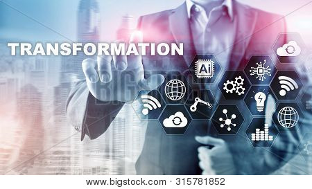 Business Transformation. Future And Innovation Internet And Network Concept. Abstract Business Backg