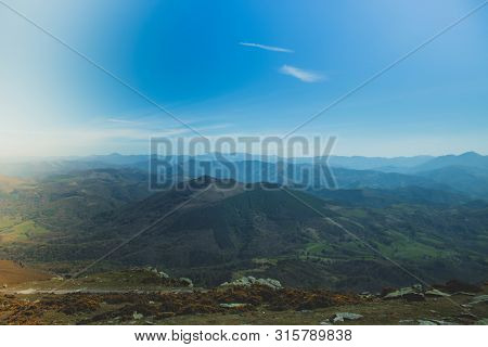 Beautiful Landscape During The Dat In The Mountain