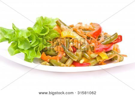 salad with haricot and vegetables