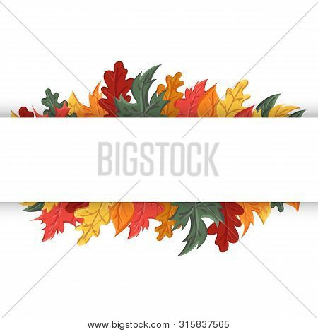 Autumn Background With The Image Of A Leaf Fall.