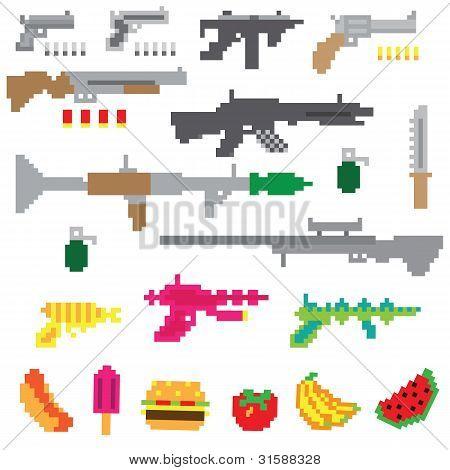 Game guns vector