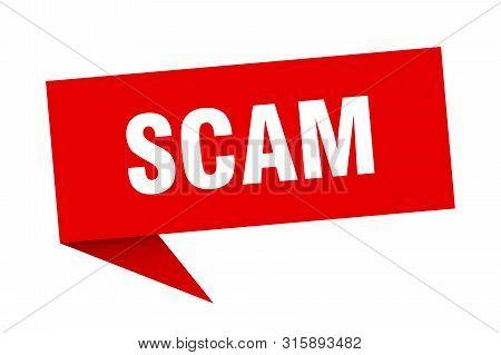 Scam Speech Bubble. Scam Sign. Scam Banner