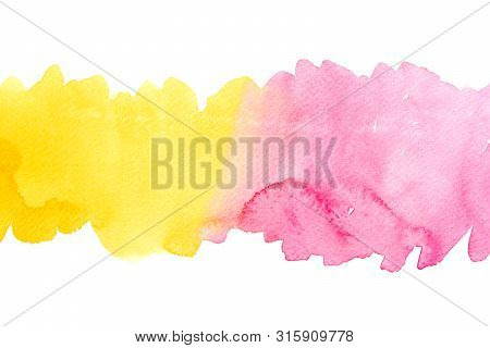 Abstract Water Colorful Painting. Pastel Color Illustration Concept.