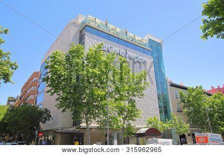 Madrid Spain - May 28, 2019: El Corte Ingles Shopping Mall Serrano Madrid Spain