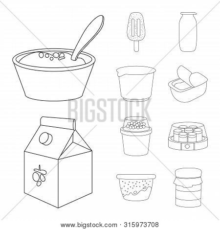 Vector Illustration Of Calcium And Food Logo. Collection Of Calcium And Product Stock Symbol For Web