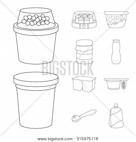 Isolated Object Of Calcium And Food Icon. Set Of Calcium And Product Vector Icon For Stock.