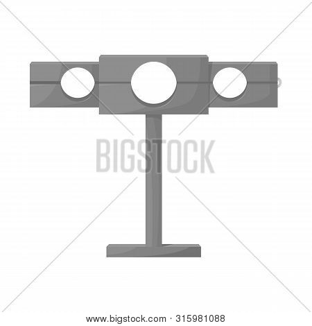 Isolated object of guillotine and torture logo. Collection of guillotine and punishment vector icon for stock. poster
