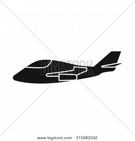 Vector Illustration Of Aeroplane And Space Logo. Set Of Aeroplane And Airborne Stock Vector Illustra