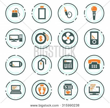 Home Appliances Vector Icons For User Interface Design