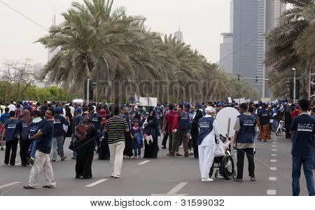 Peace March Crowd