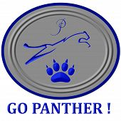 Symbol of a panther for a high school team poster
