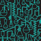 Seamless vector pattern of an abstract science lab poster