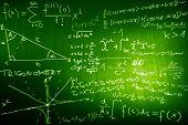 Science Mathematics Physics Illustration formulas in a cool design poster
