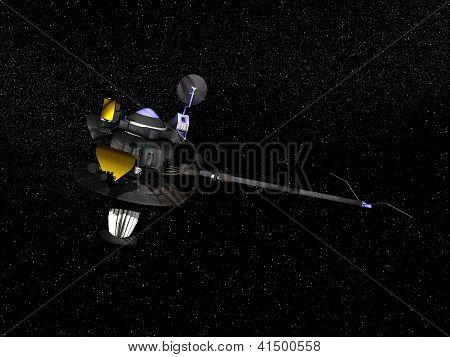 Galileo Spacecraft - 3D Render