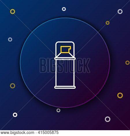 Line Shaving Gel Foam Icon Isolated On Blue Background. Shaving Cream. Colorful Outline Concept. Vec