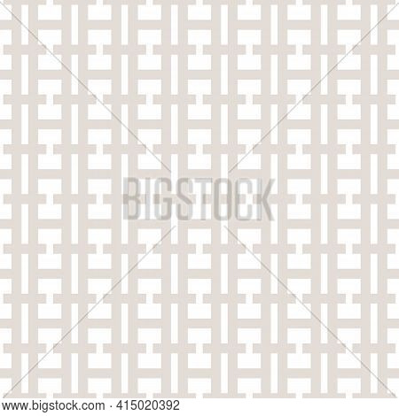 Vector Geometric Seamless Pattern. Subtle Abstract Texture With Grid, Net, Grill, Lattice, Lines, Sq