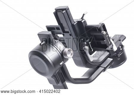 Gimbal Stabilizer 3-axis For Camera Isolated On White Background