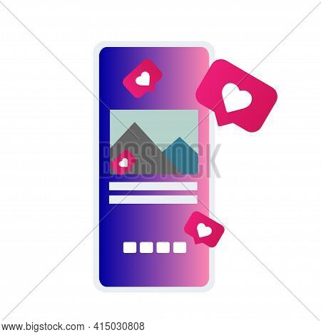 Social Media Applications. Mobile Applications Concept. Social Network And Mobile Device Concept. Gr